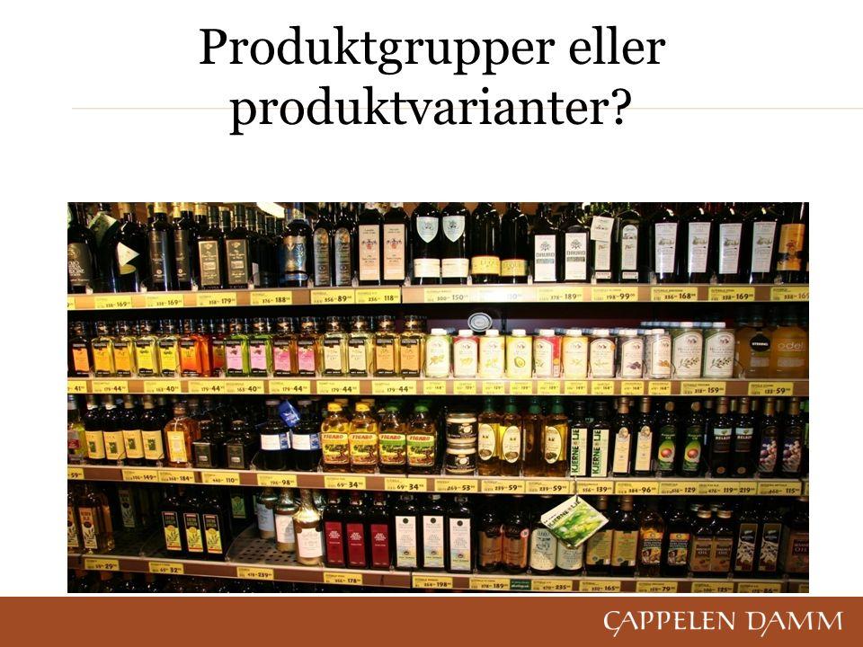 Produktgrupper eller produktvarianter