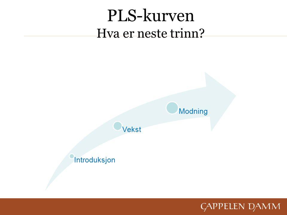 PLS-kurven Hva er neste trinn Introduksjon Vekst Modning