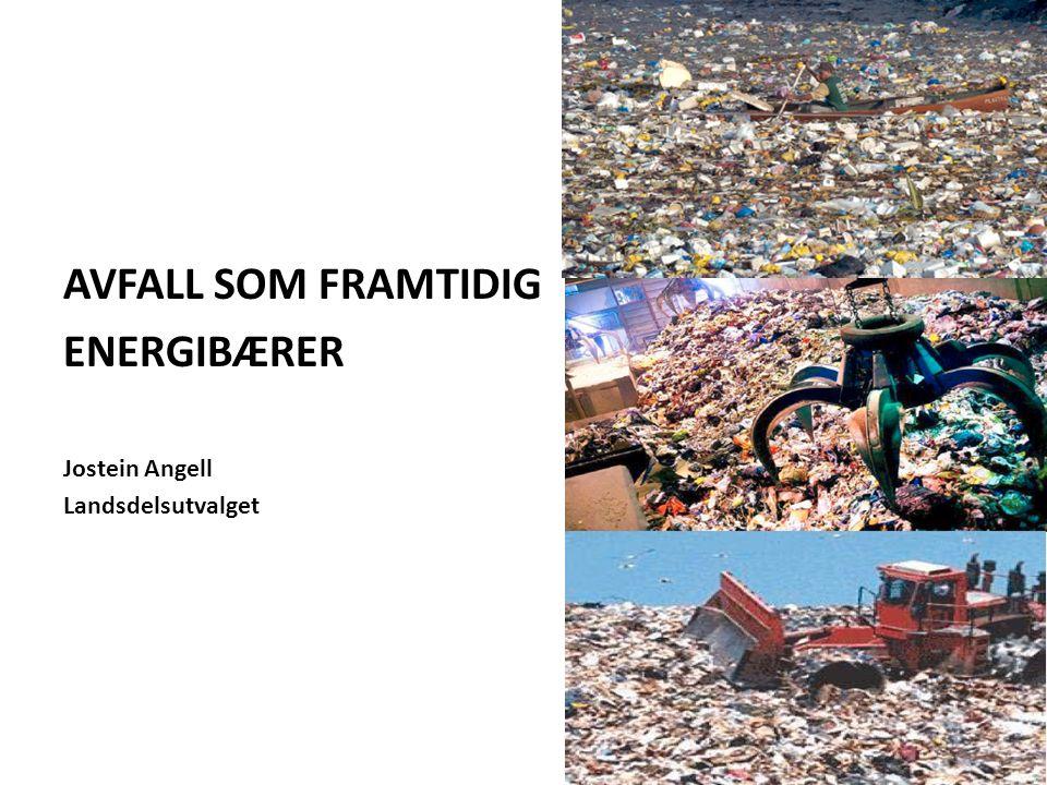 AVFALL SOM FRAMTIDIG ENERGIBÆRER Jostein Angell Landsdelsutvalget