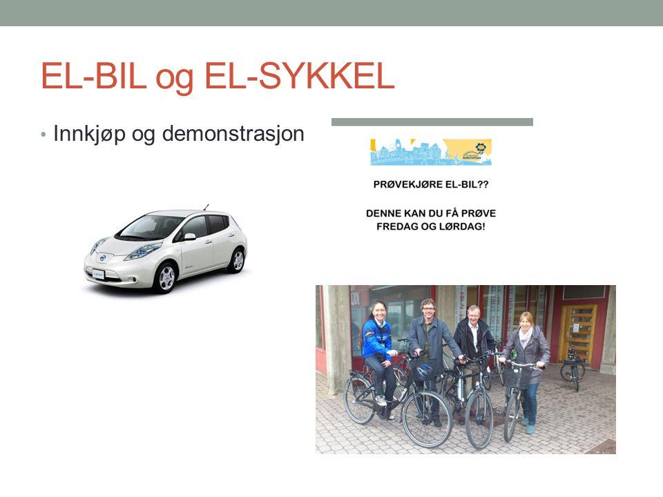 EL-BIL og EL-SYKKEL Innkjøp og demonstrasjon