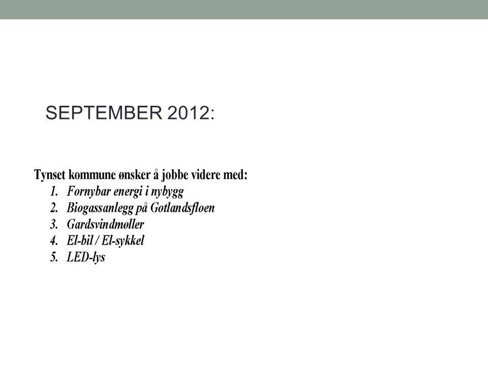 SEPTEMBER 2012: