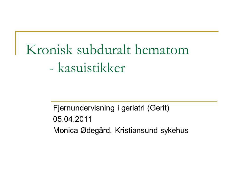 Fru A., forløp 2005 – 2011: Fortsatt alkoholproblemer og falltendens i hjemmet.