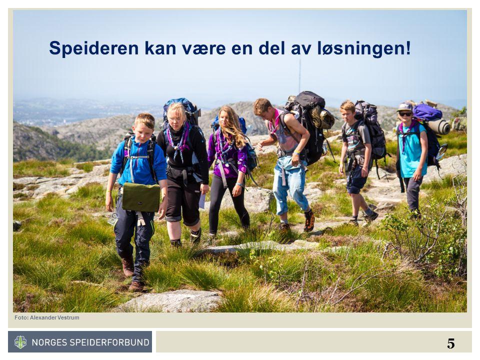 5 Foto: Alexander Vestrum Speideren kan være en del av løsningen!