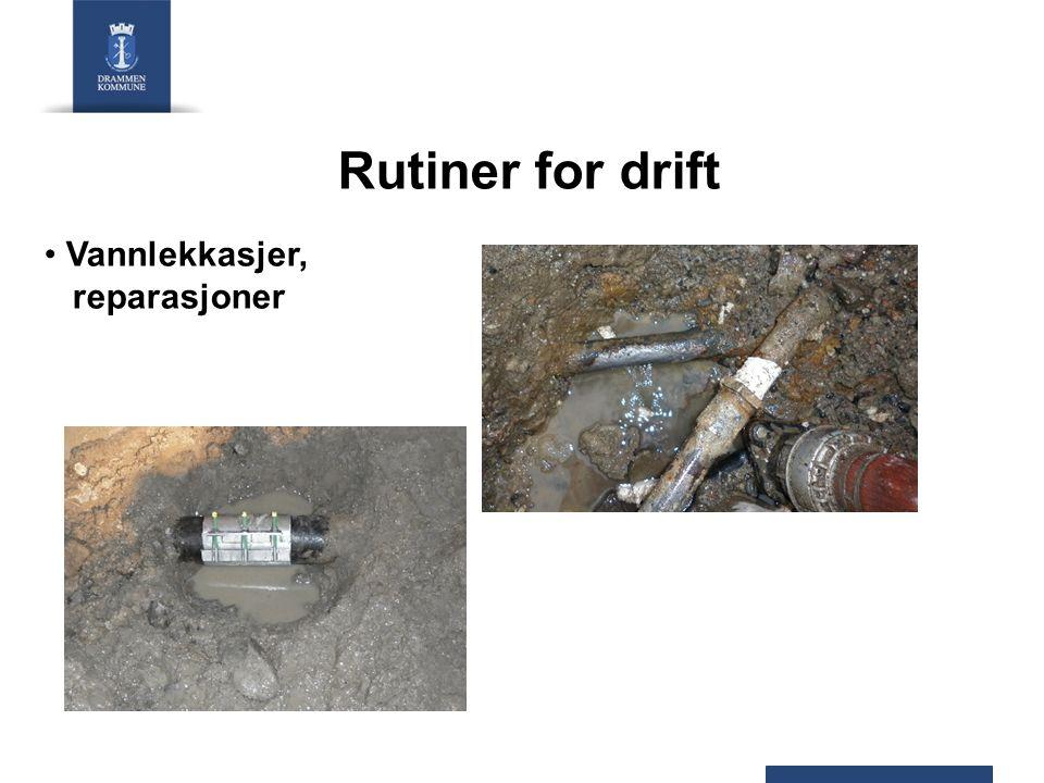 Rutiner for drift Vannlekkasjer, reparasjoner