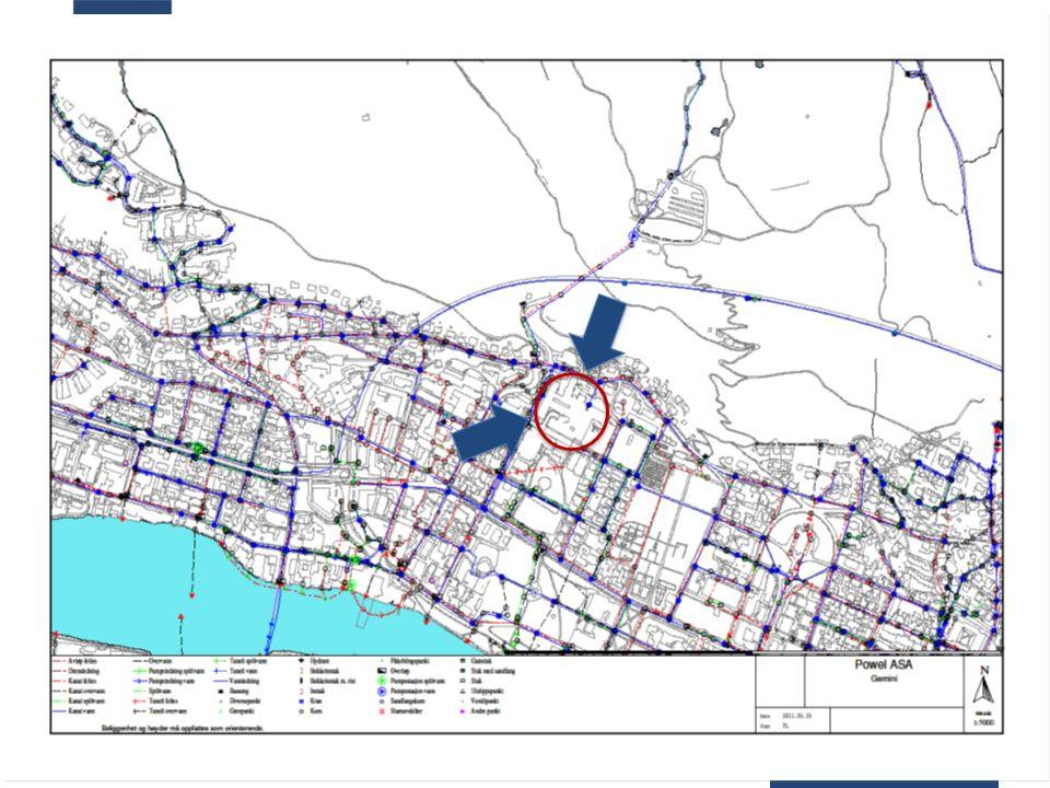 Vannleveranse og beredskap Kart lokalt nett Drammen