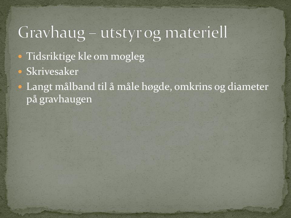 Tidsriktige kle om mogleg Skrivesaker Langt målband til å måle høgde, omkrins og diameter på gravhaugen