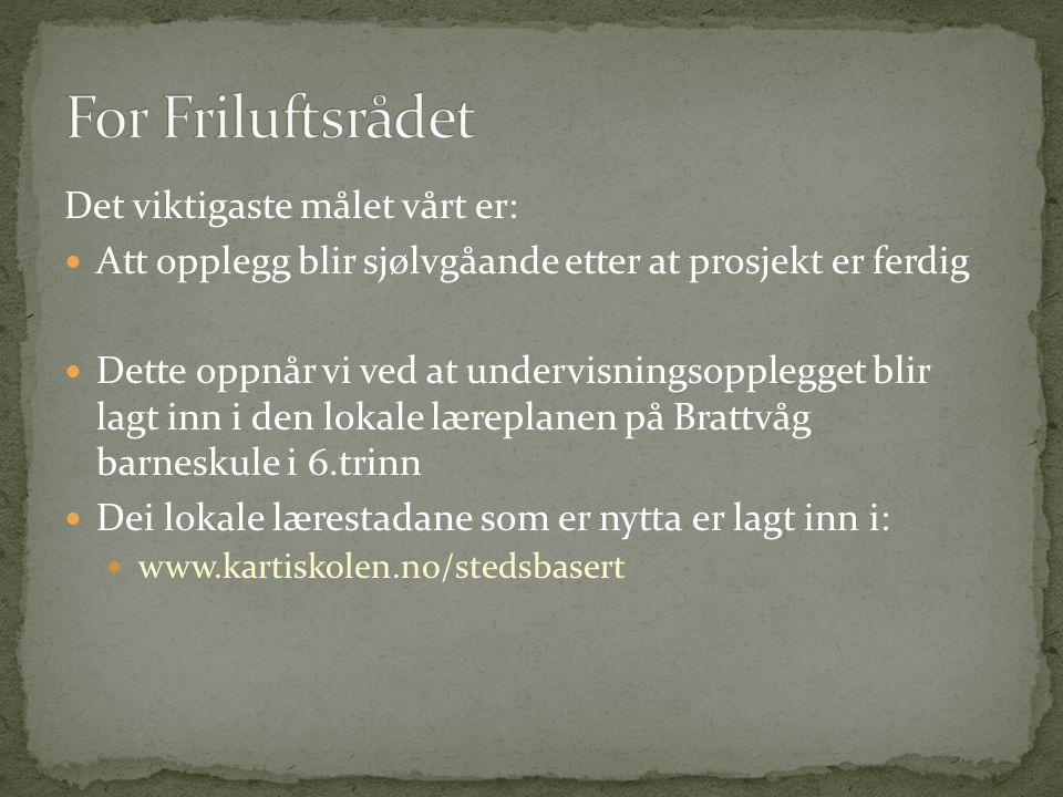 Skafti Helgason – Vikingliv S.Helgason Christer Lundberg Nes – Friluftsrådet Kai Oskar Eidsvik – Brattvåg barneskule