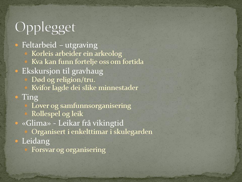 Norsk Rollespel Samfunnsfag Lover og samfunnsnormer i vikingtid Konfliktløysing og makt/avmakt Gulating RLE Etikk og moral Kroppsøving «Glima»-leiker som holmgang og strid