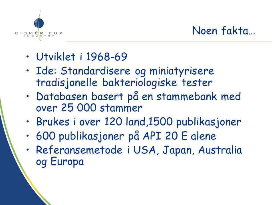 Tilstede i 130 land –33 datterselskaper –115 distributører 2001: Omsetning på 800mill Euro 12% av omsetningen brukes til forskning og utvikling Noen fakta…
