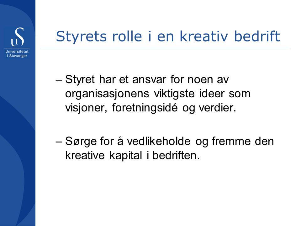 Studie av kreativitet i restauranter (Mathisen, Mykletun, & Einarsen) Leders kreativitet Teamklima Kreative resultater + +
