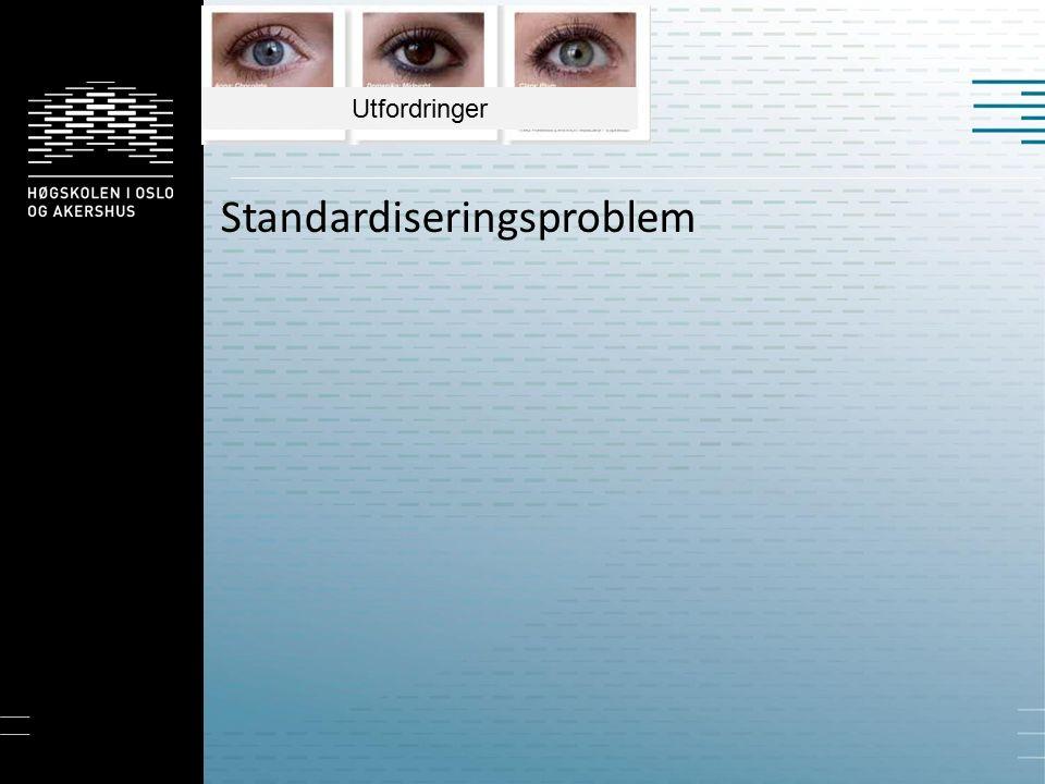 Standardiseringsproblem Utfordringer