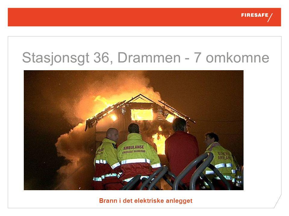 Brann i det elektriske anlegget Stasjonsgt 36, Drammen - 7 omkomne