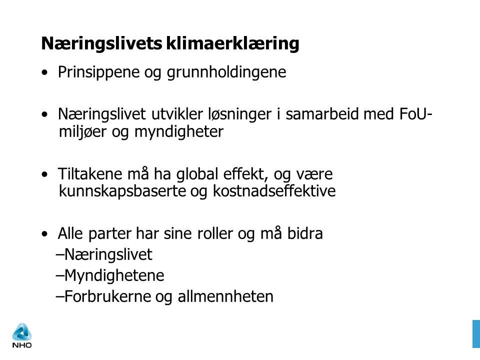 Fakta-og policydokumenter Juni 2008 Energiproduksjon og -bruk i Norge Energibruk i bygg Fornybar energi Luftfart I løpet av 2008/2009 Utslippsreduksjon i prosessindustri Energibruk og –produksjon, inkl.
