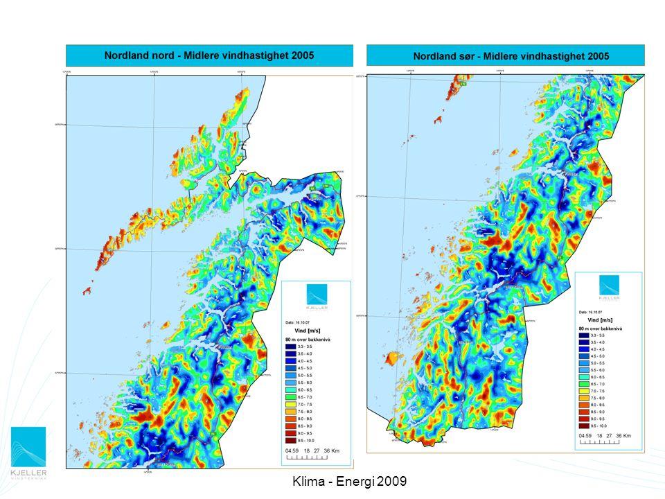 Validering av vindkart Tidligere validering av vindkartmetodikken (Berge et al., 2007)) for tre vindparker i midt-Norge.