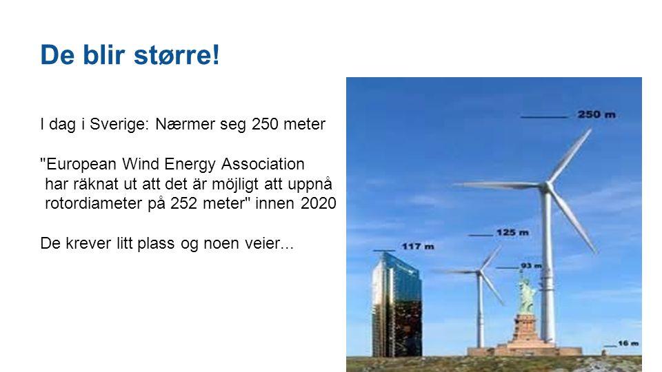 De blir større! I dag i Sverige: Nærmer seg 250 meter