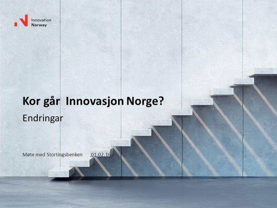 Kor går Innovasjon Norge? Endringar Møte med Stortingsbenken 01.02.16