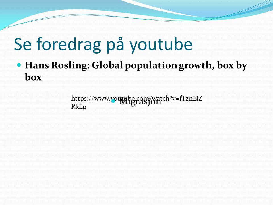 Demografiske ord og uttrykk Demografi er kunnskapen om befolkningsutviklingen Naturlig tilvekst: Forskjellen på antall fødte og døde.