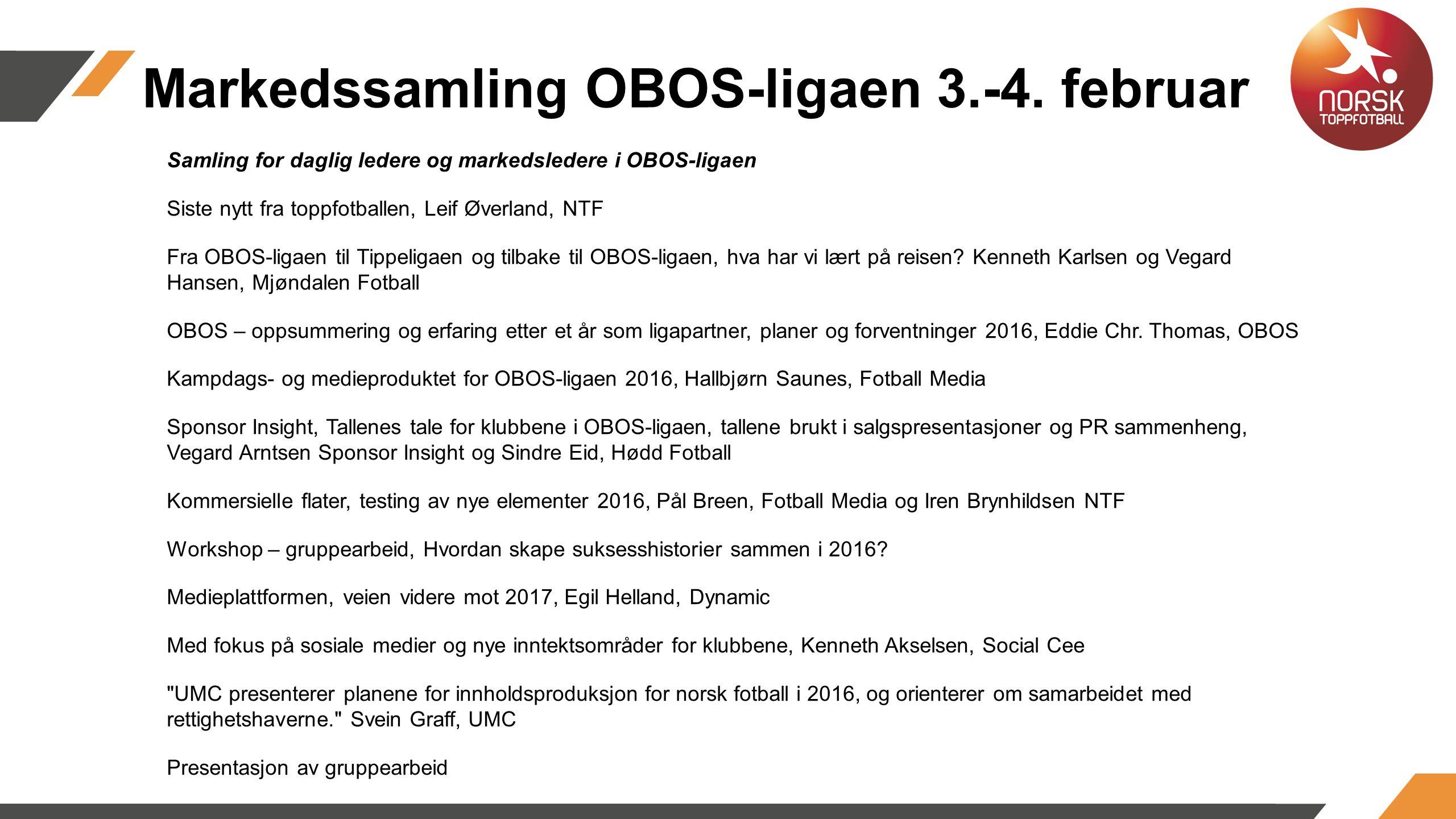 Markedssamling OBOS-ligaen 3.-4.