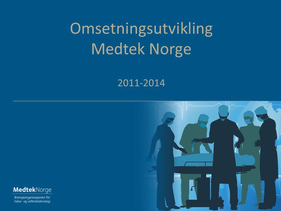 Omsetningsutvikling Medtek Norge 2011-2014