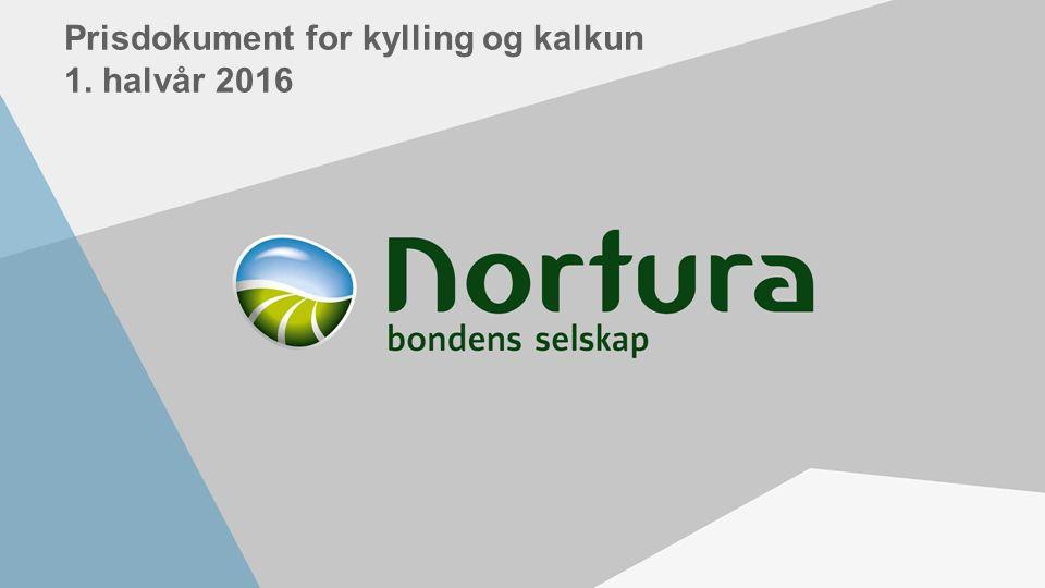 Prisdokument for kylling og kalkun 1. halvår 2016