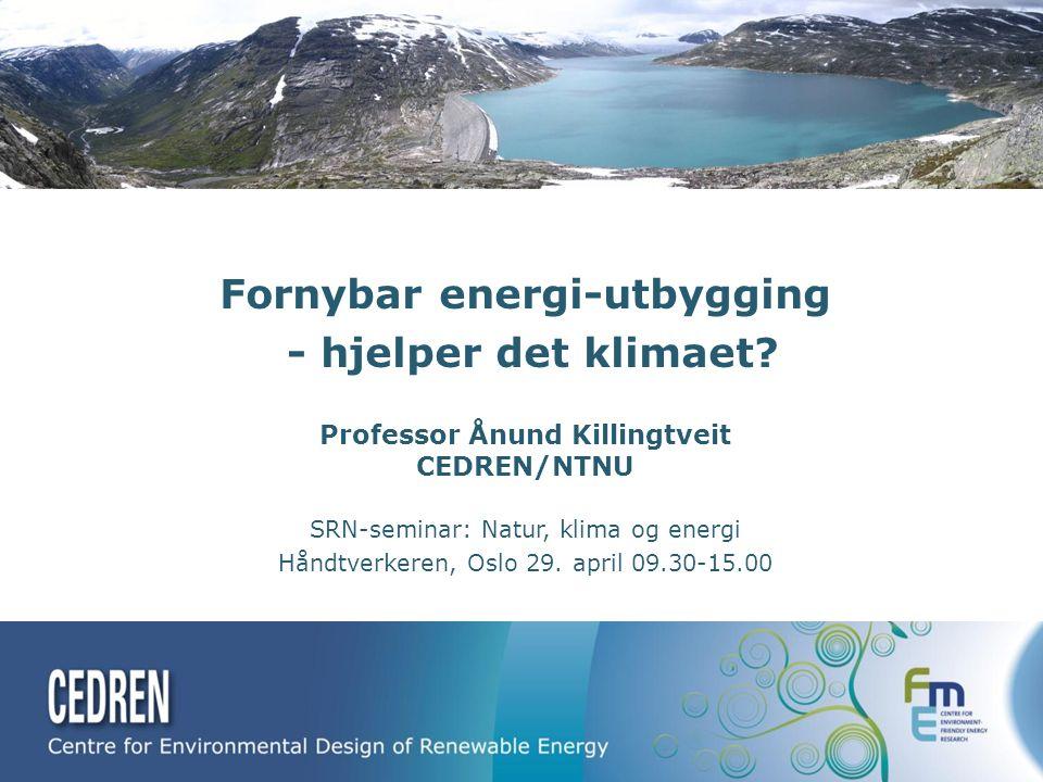 Fornybar energi-utbygging - hjelper det klimaet.