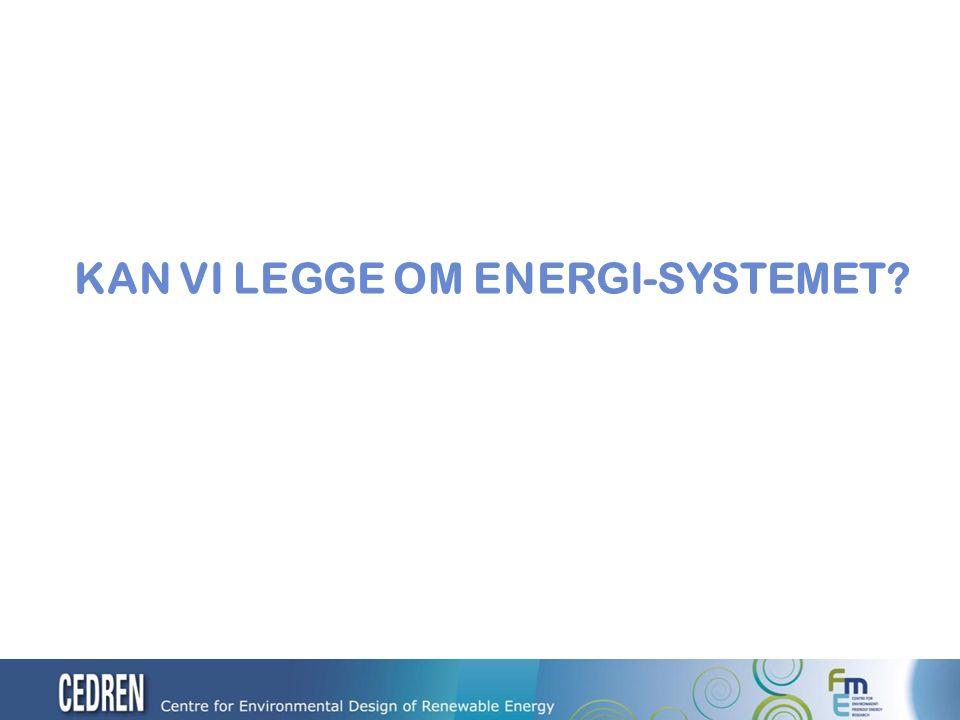 KAN VI LEGGE OM ENERGI-SYSTEMET