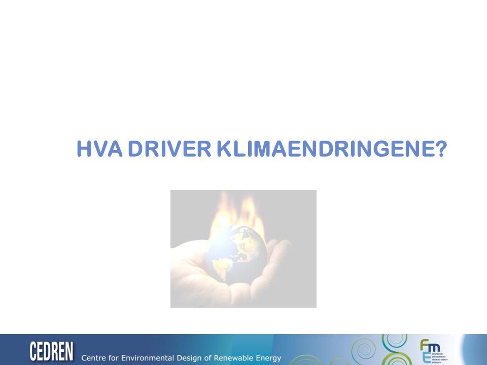 Drivhusgasser (GHG) i atmosfæren fører til klimaendringer (CC) Brenning av fossile brensel (olje, gass, kull) er hovedkilde til utslipp av GHG til atmosfæren.