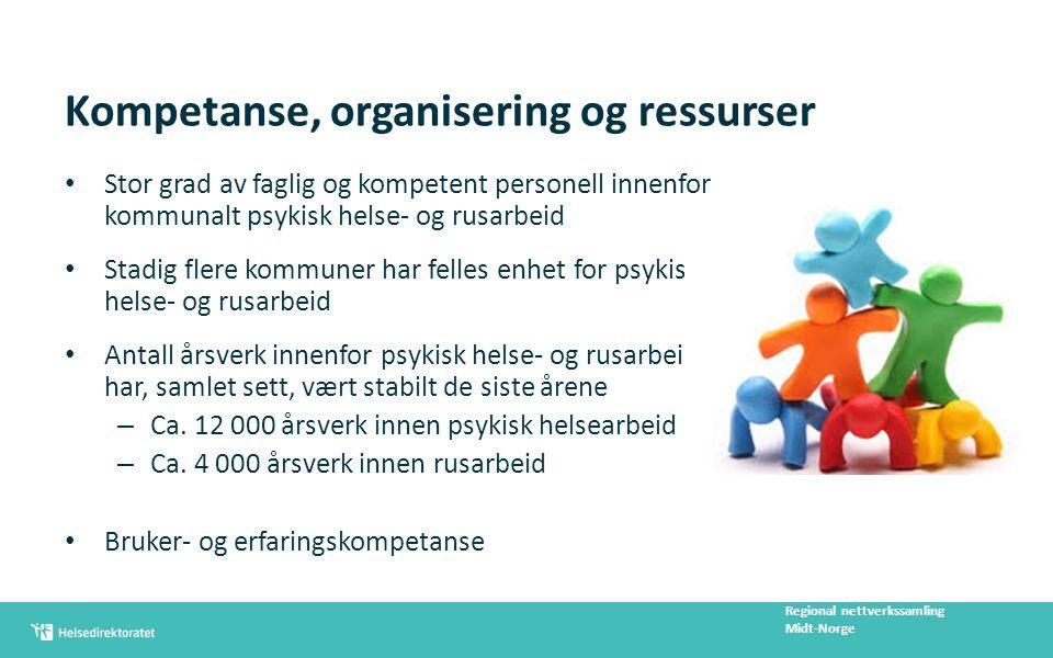Flerfaglige arbeidsfellesskap Kompetanseelementer – Basiskompetanse – Teamarbeid/tverrfaglig samarbeid – Erfaringskompetanse – Samhandlingskompetanse – Kultur og holdninger, etikk og verdier Regional nettverkssamling Midt-Norge