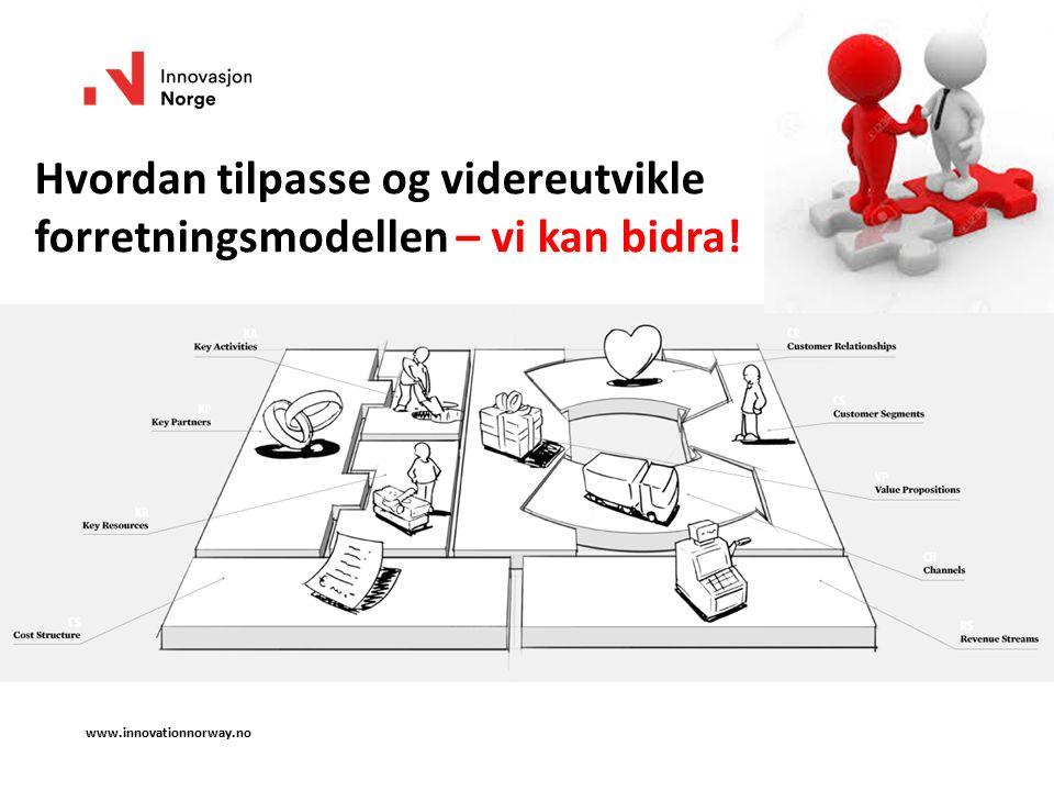 Hvordan tilpasse og videreutvikle forretningsmodellen – vi kan bidra! www.innovationnorway.no