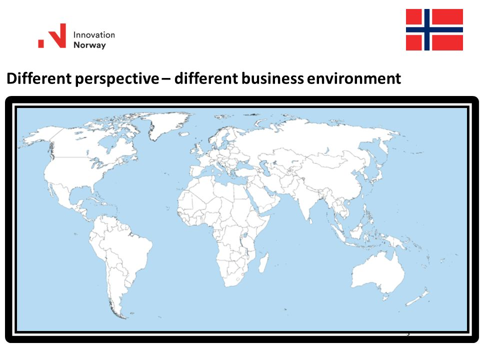 3 Different perspective – different business environment