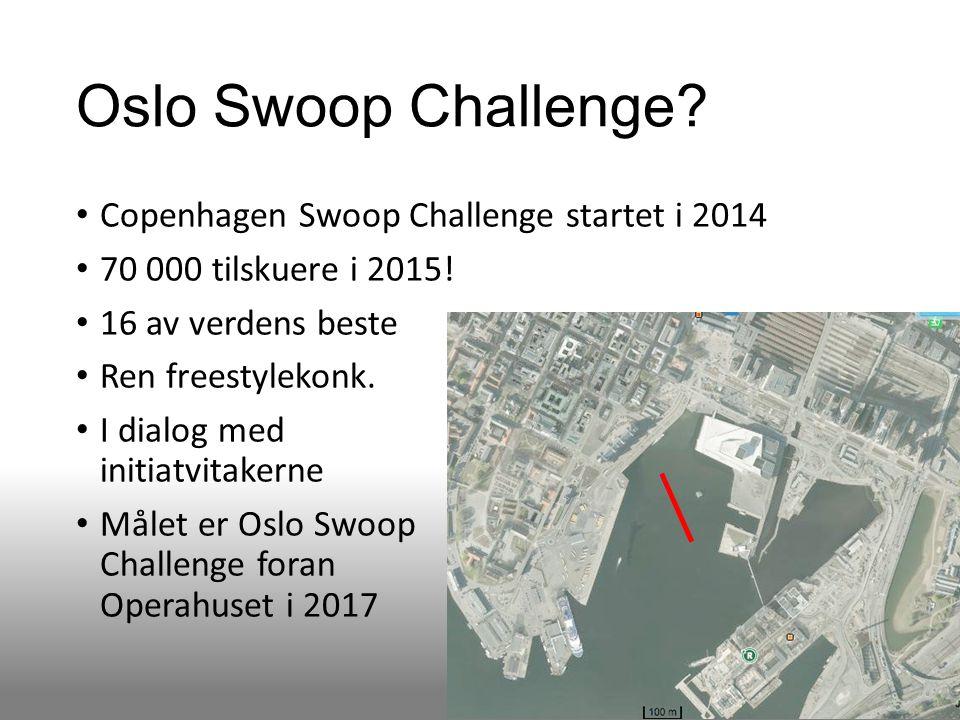 Oslo Swoop Challenge. Copenhagen Swoop Challenge startet i 2014 70 000 tilskuere i 2015.