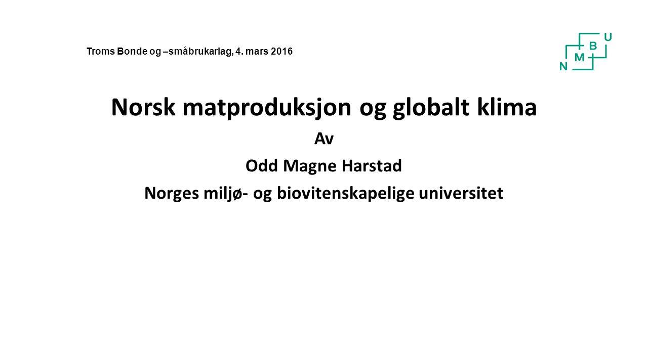 Arealutnytting i 2012 i 1000 daa i Nordland, Troms og Finnmark (Arnoldussen et al., 2014) SoneTilgjengelig jordbruksareal Fulldyrka eng Ute av drift Ute av drift, % 6104961127626,3 71931056634,3 Sum124271634227,5 Uten verdi, eller en ressurs som kan utnyttes og bidra til verdiskapning i det grønne skifte?