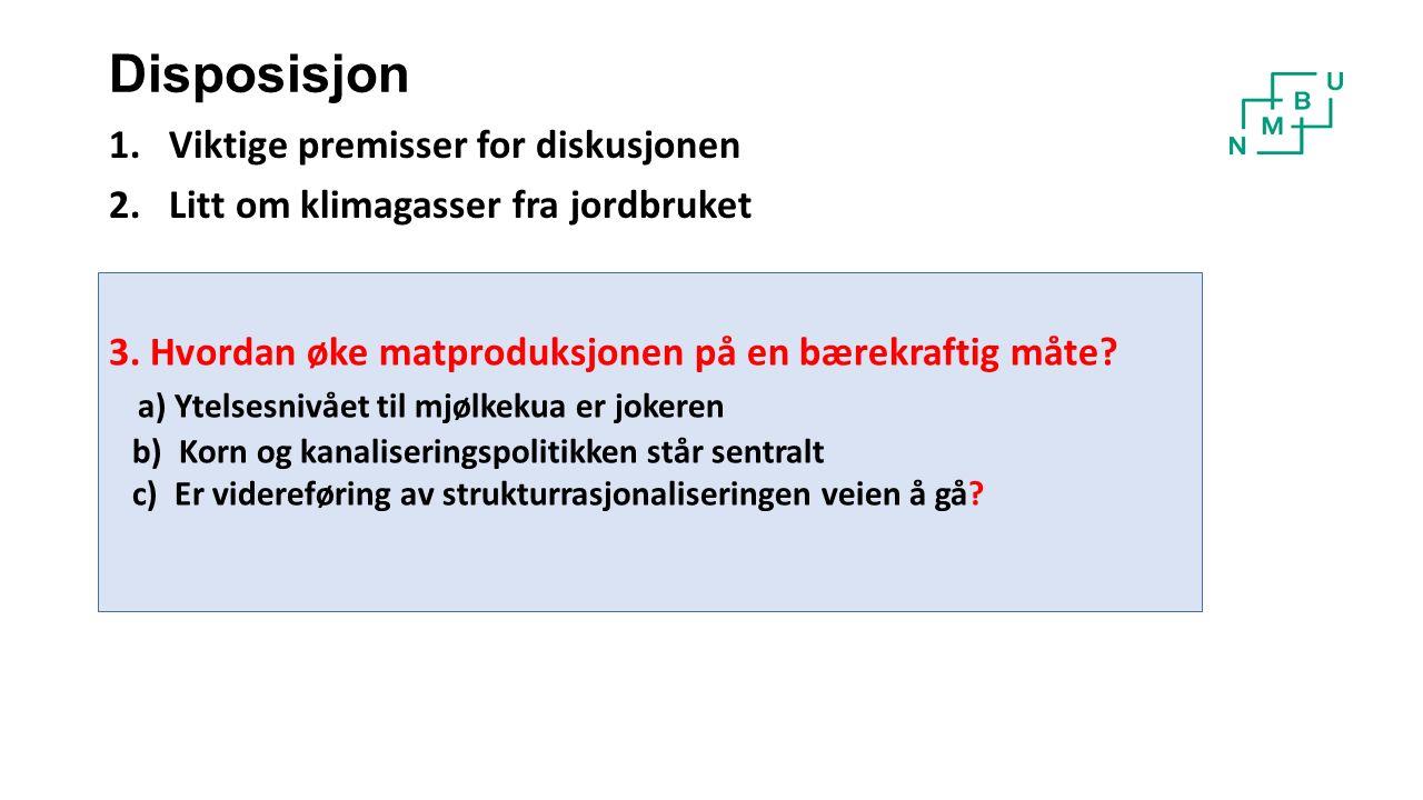 Stortingsmelding nr.9 (2011- 2012) vektlegger: Økt matproduksjon (1% pr.