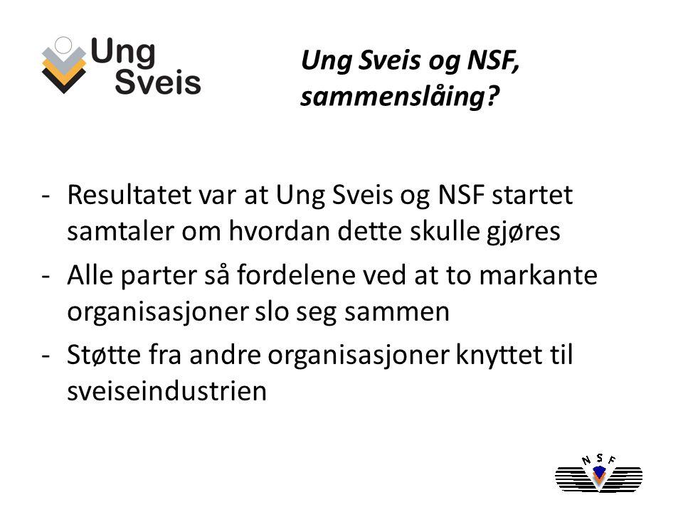 Ung Sveis og NSF, sammenslåing.