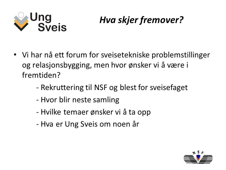 -Ung Sveis opparbeidet seg raskt en sterk posisjon i sveiseindustrien i Norge -Knyttet til seg medlemmer fra hele Norge og alle grener knyttet til sveiseindustrien -Skaper rekruttering til NSF og blest for sveisefaget Ung Sveis og NSF, sammenslåing?