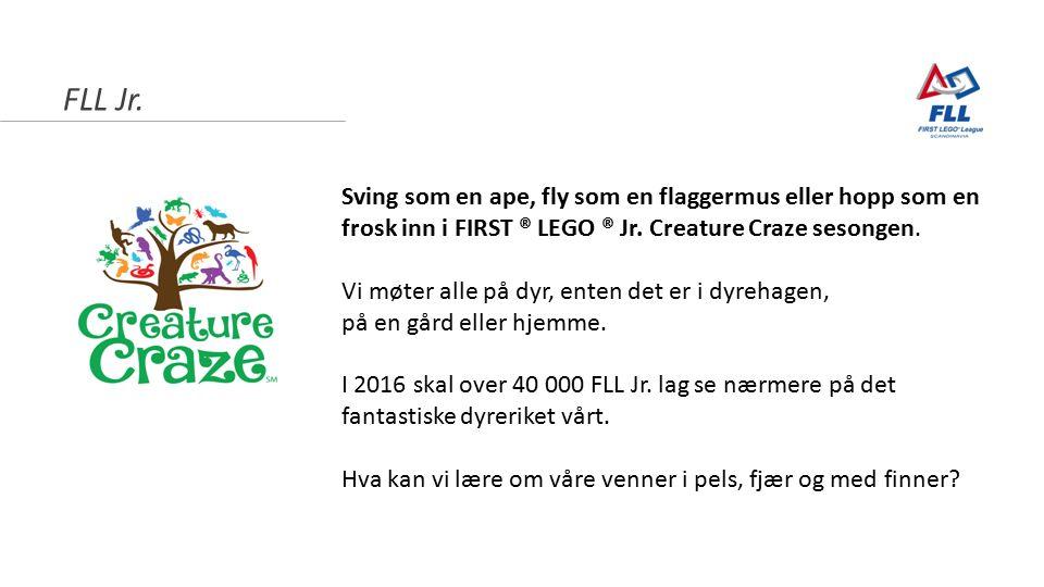 FLL Jr.Sving som en ape, fly som en flaggermus eller hopp som en frosk inn i FIRST ® LEGO ® Jr.