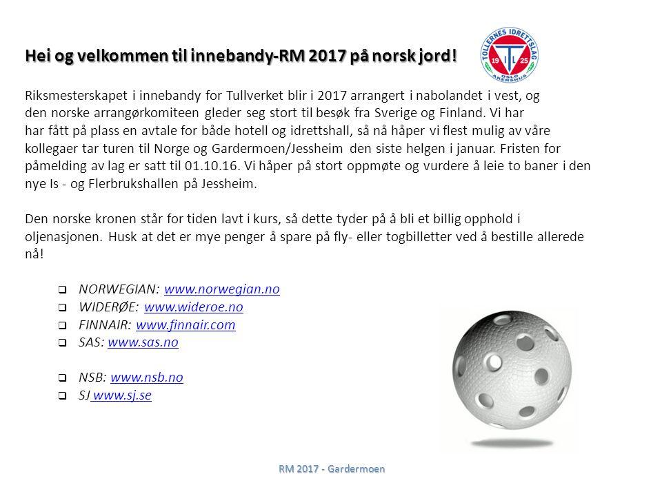 Hei og velkommen til innebandy-RM 2017 på norsk jord.