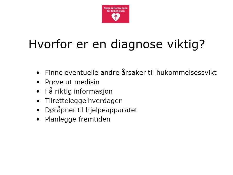 Hvorfor er en diagnose viktig.