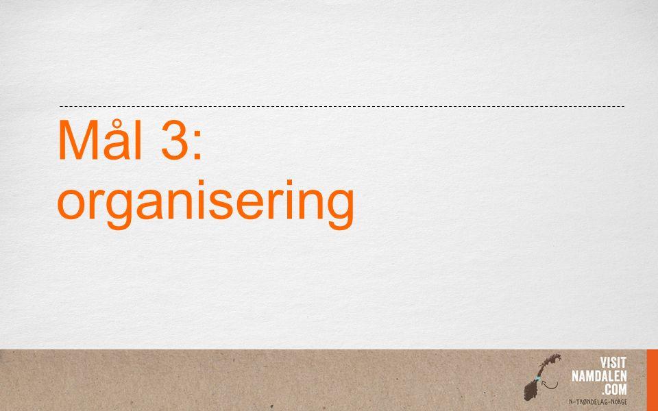 Mål 3: organisering