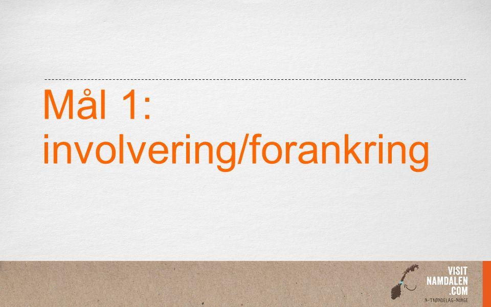 Mål 1: involvering/forankring