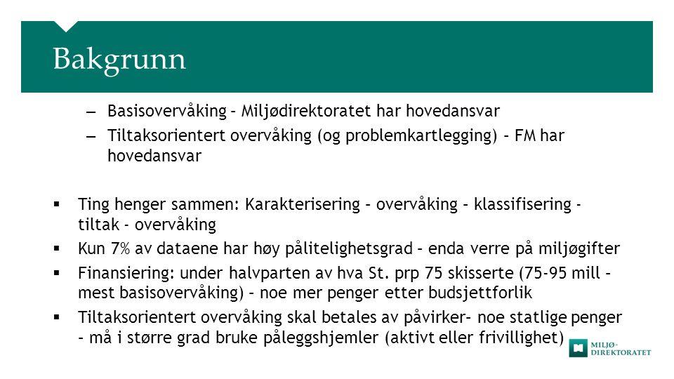 Tilstrebe felles programmer  Felles: – Mjøsa – Fjordene utenfor Bergen – Grenland – Sørfjorden – Nedre Glomma – Kristiansund  Foreløpig separate industriprogram som kan integreres i felles programmer – Kristiansand – Rogaland – Høyanger – Trondheimsfjorden 19