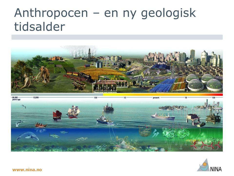 www.nina.no GLOBIO viser stor påvirkning fra arealbruk, infrastruktur Sannsynlig samlet påvirkning av arealbruk, fragmentering, N, klima Usikkert mht effekt på naturmangfoldet  Tilsynelatende databasert  Mye ekspertvurdering