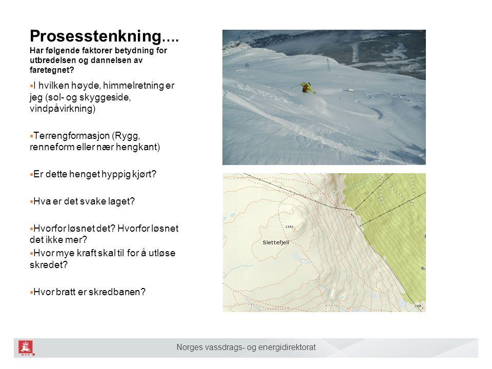 Norges vassdrags- og energidirektorat Prosesstenkning ….