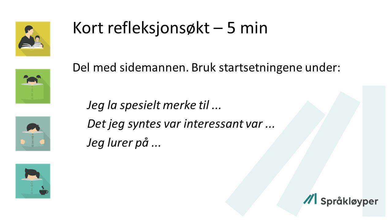 Litteraturliste Anmarkrud, Øistein og Refsahl, Vigdis (2010).