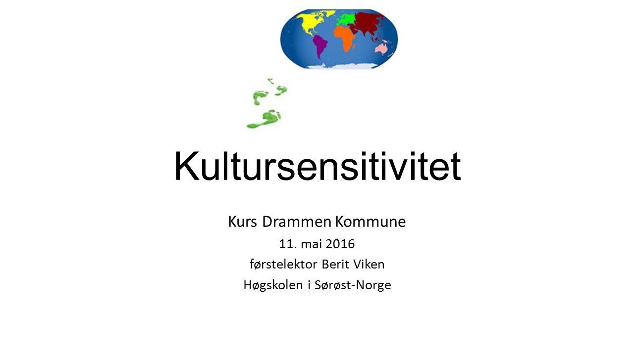 Kultursensitivitet Kurs Drammen Kommune 11.