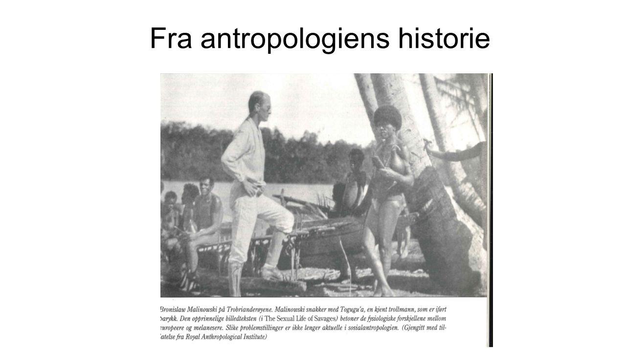Fra antropologiens historie