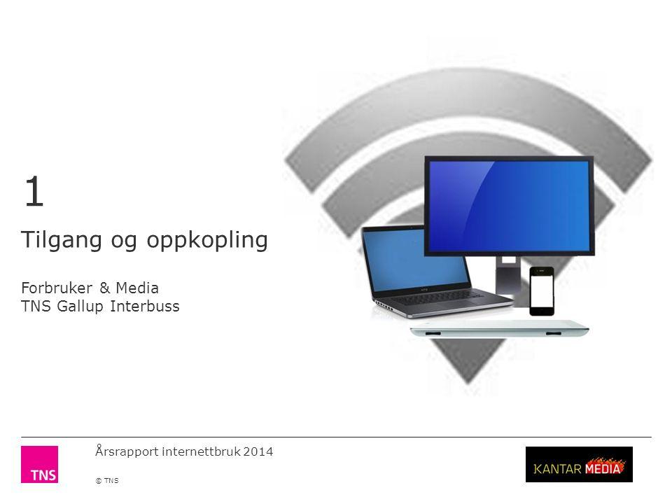 Årsrapport internettbruk 2014 © TNS Bruk av Internett 1996 - 2014 Kilde: Forbruker & Media Tallene er representative befolkningen 12 år og eldre.