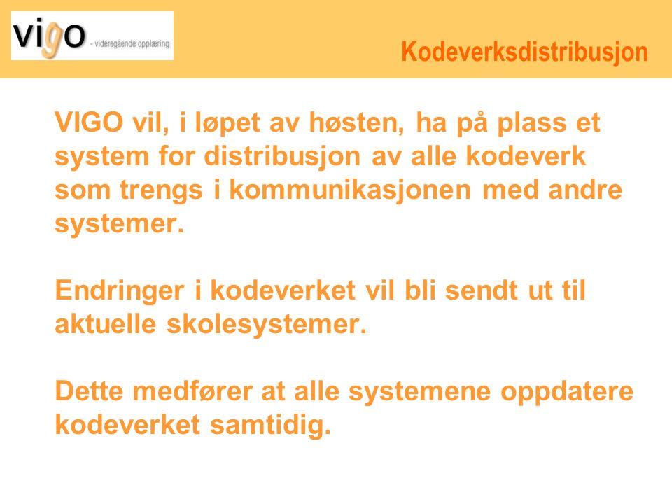 Kodeverksdistribusjon VIGO vil, i løpet av høsten, ha på plass et system for distribusjon av alle kodeverk som trengs i kommunikasjonen med andre systemer.