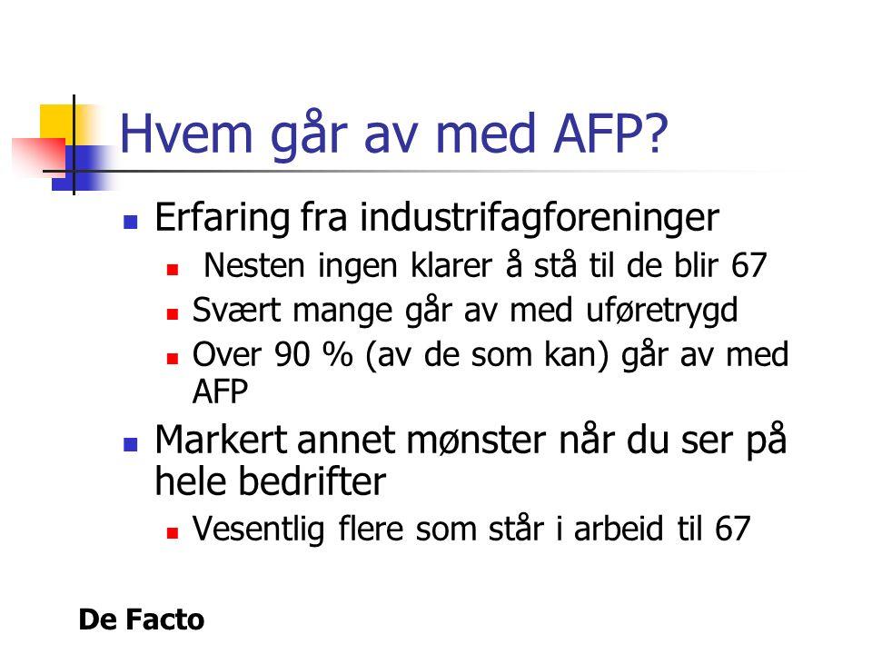 De Facto Hvem går av med AFP.