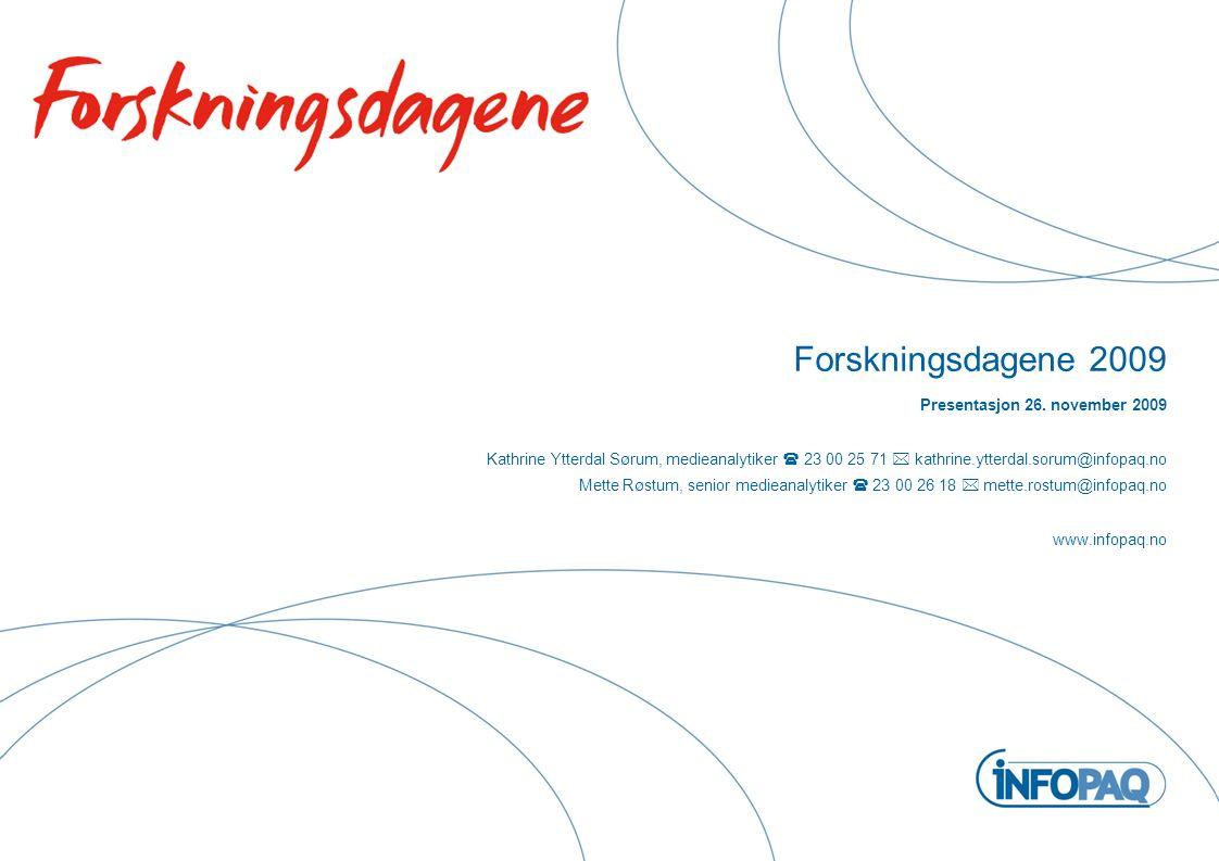 Forskningsdagene 2009 Presentasjon 26.